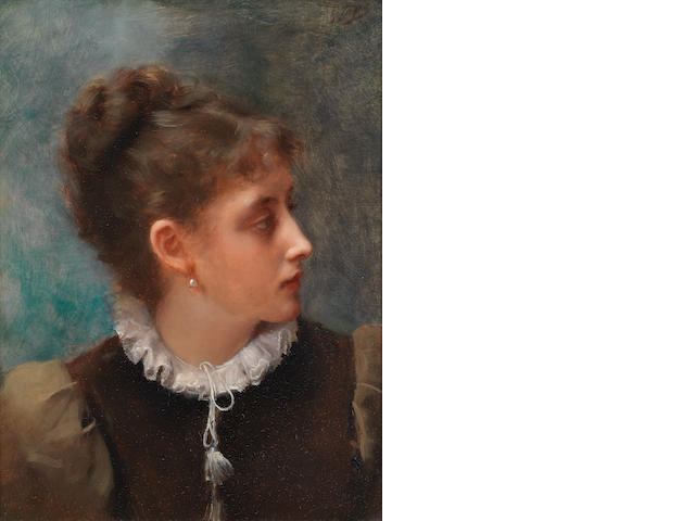 Gustave Jean Jacquet (French, 1846-1909) Reflective mood