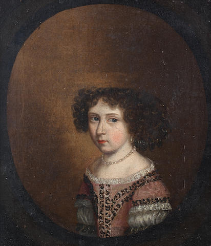 English School, circa 1670 Portraits of the four children of James Fortrye II, bust-length, within painted ovals (4)