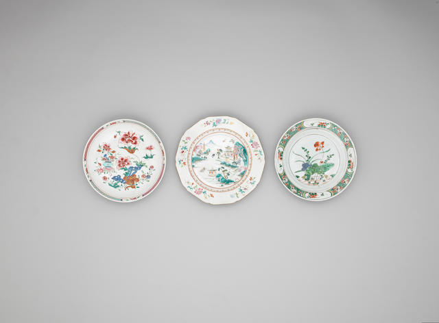 A group of thirteen dishes for the export market 18th century and earlier