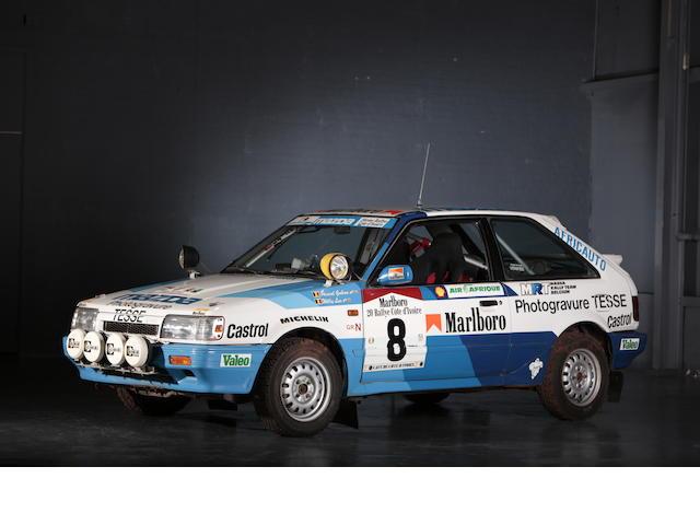Ex-Pascal Gaban, vainqueur de la coupe FIA en 1988,1988 Mazda 323 Familia, voiture de rallye à 4 roues motrices