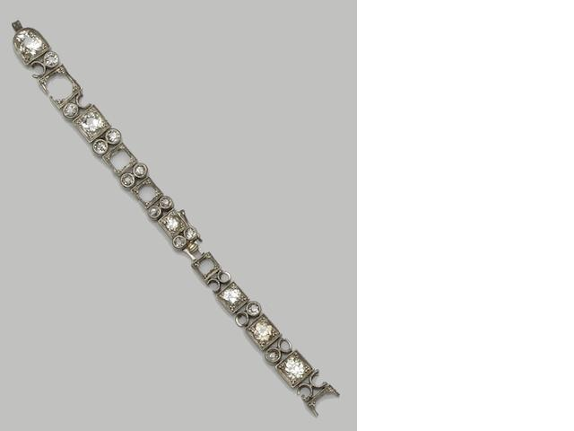 A diamond set watch bracelet