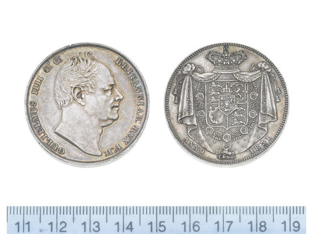 William IV, Proof Crown, 1831, bare head right,