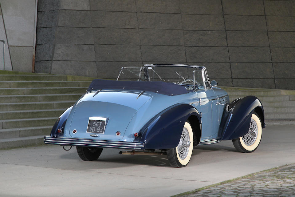 Restaurée par André Lecoq,1949 Delahaye 135M cabriolet