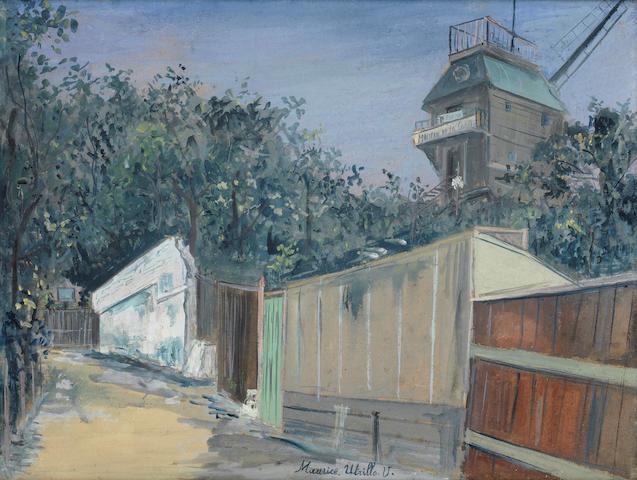 Maurice Utrillo (French, 1883-1955) Le Moulin de la Galette à Montmartre