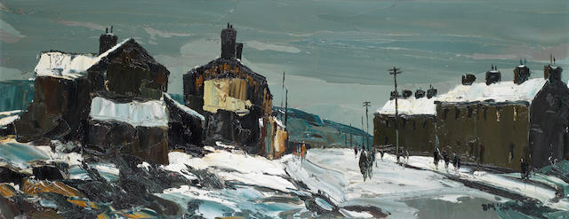 Donald McIntyre (British, 1923-2009) 'Street in the Snow'