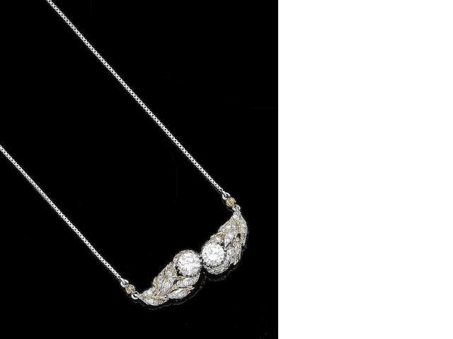 A diamond pendant necklace, by Buccellati