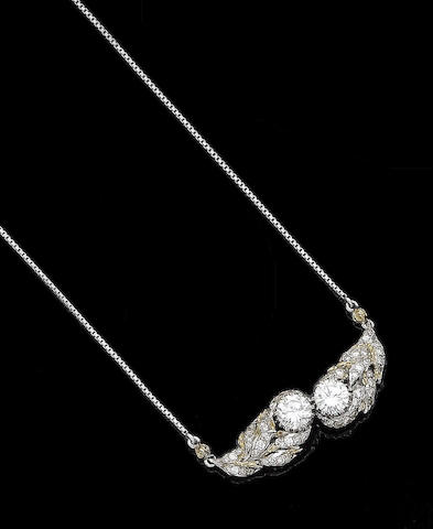 A diamond pendant necklace, by Buccellati