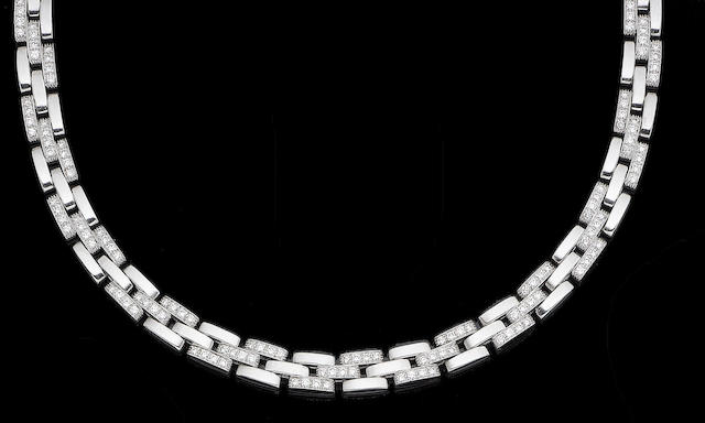 A diamond-set 'Maillon Panthère' necklace, by Cartier