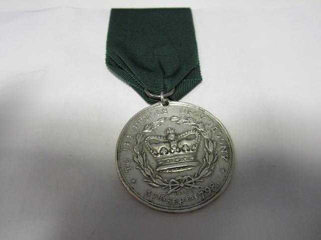 Limerick Militia Medal for Collooney 1798,