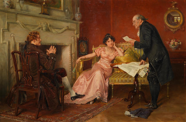 George Goodwin Kilburne, RI, RBA (British, 1839-1924) The family lawyer