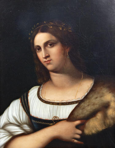 Italian School circa 1870 A portrait of a lady (Laura), bust length
