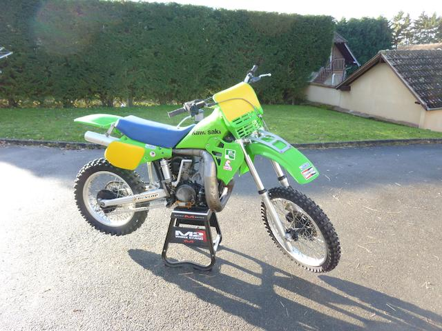 The ex-works prototype, Kurt Nicoll,1983 Kawasaki KX500 Moto-Crosser Frame no. 012