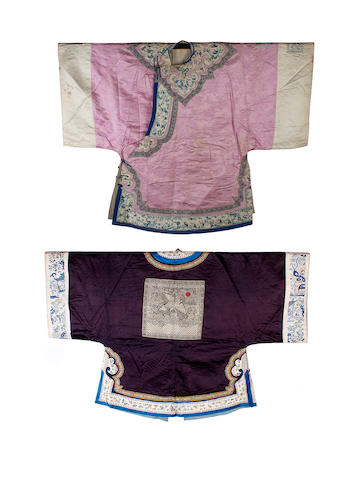 Two Chinese robes, late 19th/early 20th century