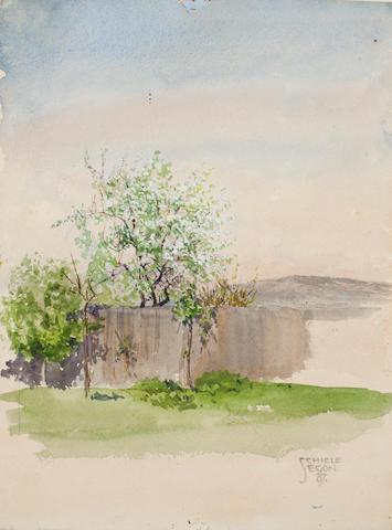 Egon Schiele (Austrian, 1890-1918) Garten mit baum