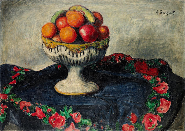 Arthur Segal (Romanian, 1875-1944) Still life of fruit