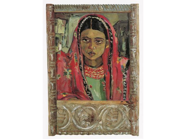Irma Stern (South African, 1894-1966) 'Zanzibar Woman' within original Zanzibar frame