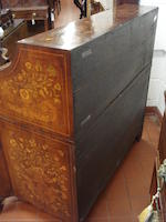 An early 19th Century Dutch floral marquetry, walnut bureau