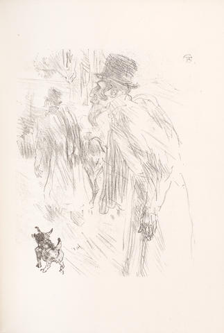 "TOULOUSE-LAUTREC (HENRI) CLEMENCEAU (GEORGES) Au pied du Sinai, NUMBER 133 OF 380 COPIES, one of the 355 on vélin d'Arches avec deux suites des lithographies"", Paris, Henri Floury, [1898]"