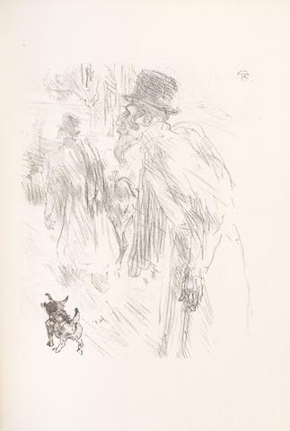 """TOULOUSE-LAUTREC (HENRI) CLEMENCEAU (GEORGES) Au pied du Sinai, NUMBER 133 OF 380 COPIES, one of the 355 on vélin d'Arches avec deux suites des lithographies"""", Paris, Henri Floury, [1898]"""