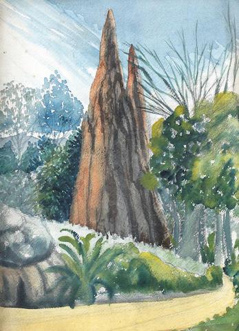 Benedict Chukwukadibia Enwonwu M.B.E (Nigerian, 1917-1994) The Termite Mound
