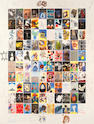 Various artists Visual Aid for Band Aid Screenprint in colours, 1985, on Velum Arches, signed in pencil in the margins by all 104 contributing artists, numbered 77/500, printed by Coriander Studio, London, with their blindstamp, with full margins,  1200 x 915mm (47 1/4 x 36in)(SH)(unframed)