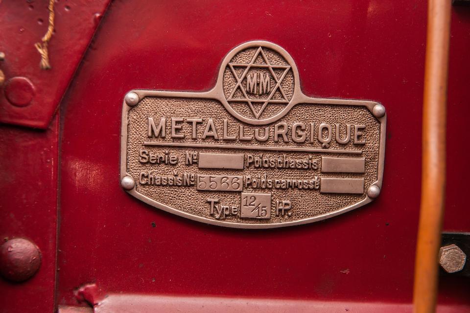 c.1921 Métallurgique 12/15 HP berline