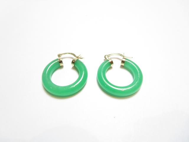 A pair of jadeite earrings