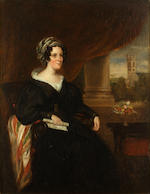 English School, 19th century A lady seated by a window; and companion portrait of a gentleman