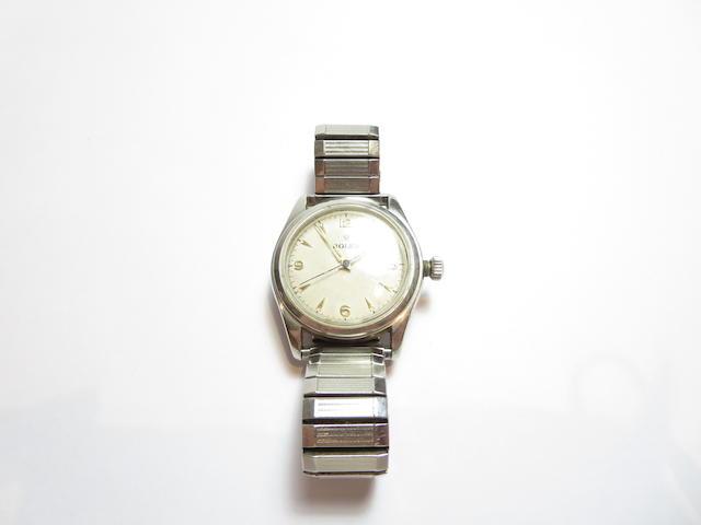 A gentleman's stainless steel wristwatch, by Rolex
