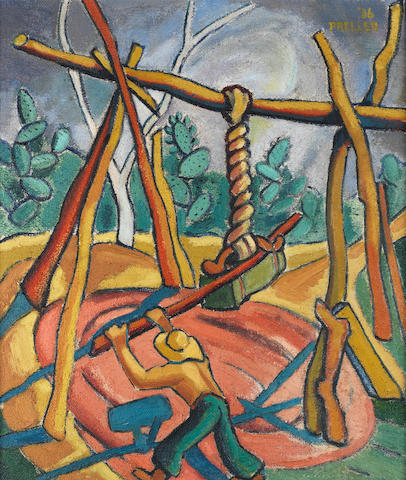 Alexis Preller (South African, 1911-1975) 'Breying the Riems'