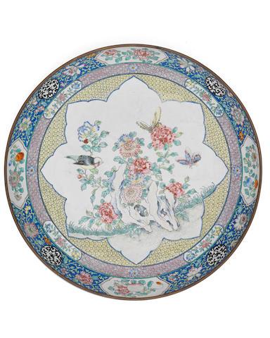 A Canton enamel dish 18th century