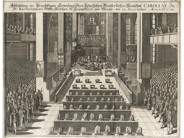 MOSER (JOHANN JAKOB) Teutsches Staats-Recht, 53 vol. bound in 27 (comprising volumes 1-50; Hauptregister, 1754; Zusatze, 2 vol. in 1, 1744), Nuremberg [Frankfurt & Leipzig], Johann Steins, 1737-1754