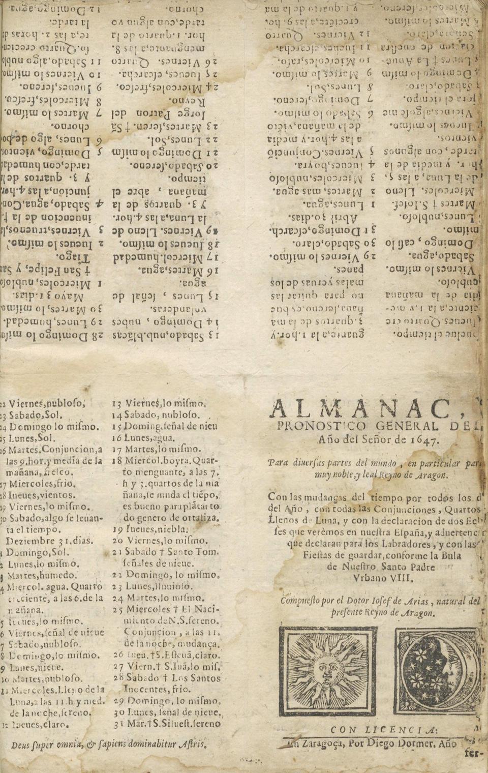 ARAGON - ALMANAC Fueros y actos de corte del Reyno de Aragon, hechos por... don Felipe nuestro señor, en las Cortes convocadas y fenecidas en... Çaragoça en los años 1645 y 1646