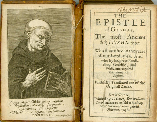 GILDAS The Epistle of Gildas, the Most Ancient British Author... Faithfully Translated out of the Originall Latine [by Thomas Abington], 1638; and another (2)