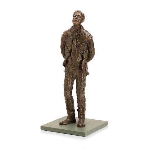 A bronze figure study
