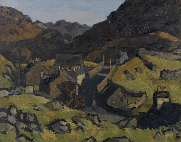 Sir Kyffin Williams R.A. (British, 1918-2006) North Wales 61 x 76.2 cm. (24 x 30 in.)