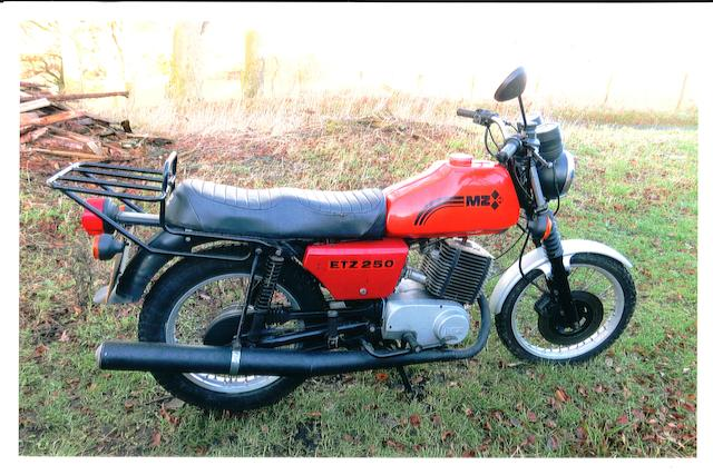 1983 MZ 243cc ETZ 250 Frame no. 2062241 Engine no. 1062357