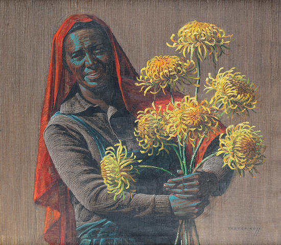 Vladimir Griegorovich Tretchikoff (South African, 1913-2006) 'Flower Seller'