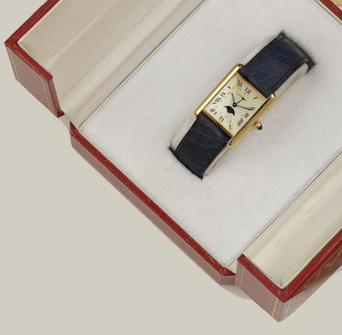 Cartier: An 18ct gold Tank wristwatch
