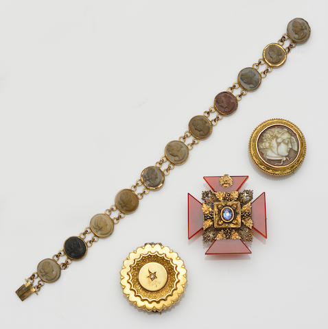 A collection of 19th century and later jewellery (6)