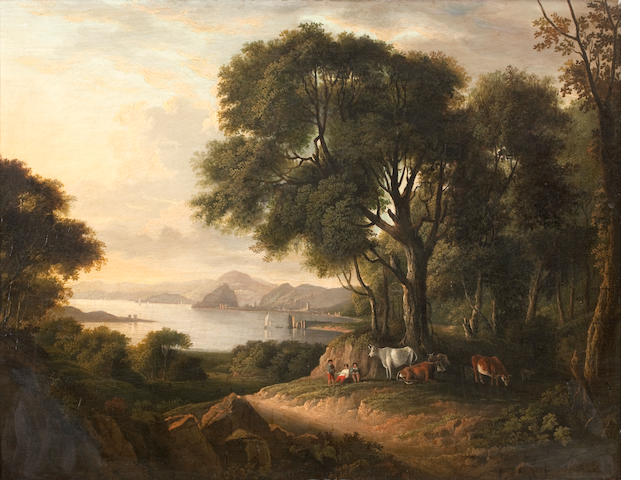 Circle of Alexander Nasmyth (Edinburgh 1758-1840) Dumbarton Rock