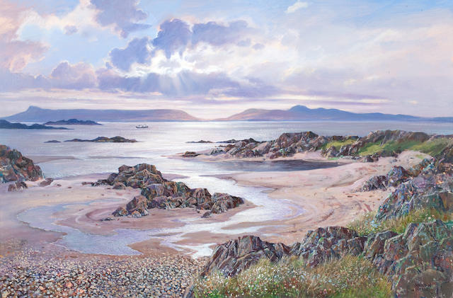 Donald Shearer (British, born 1925) Sunset at Morar