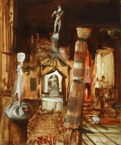 Sidney Nolan (Australian, 1917-1992) Stage set design