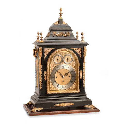A large George III style quarter striking bracket clock Inscribed Selfe Worcester, late 19th century