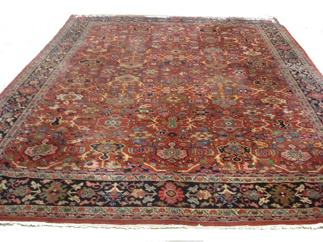 A Mahal carpet, West Persia, 368cm x 283cm