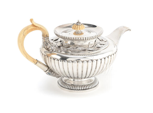 An impressive George III silver teapot  by Paul Storr, London 1816