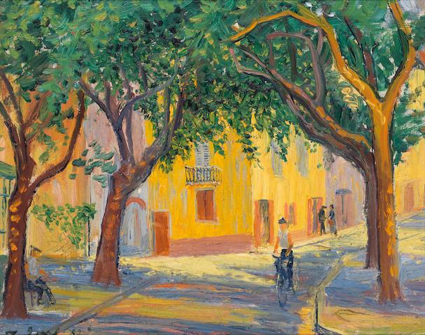 Frederick Gore CBE RA (British, 1913-2009) Provence street scene