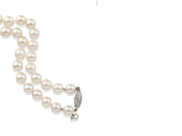 A collection of cultured pearl necklaces and earrings (10)