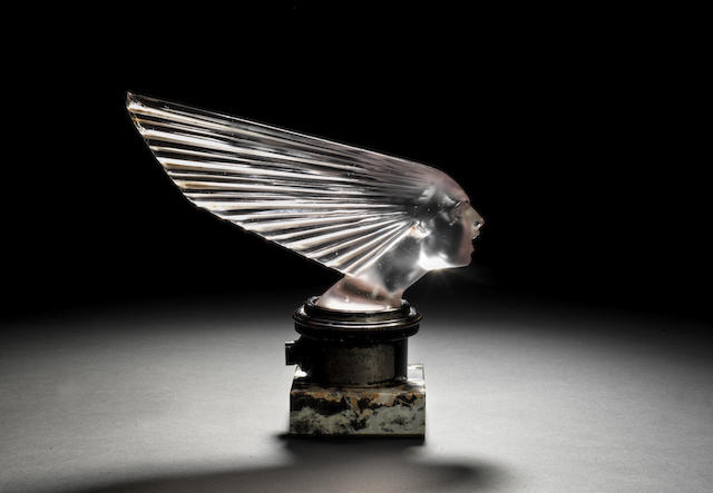 A rare 'Victoire' mascot by Rene Lalique, model introduced 18th April 1928,