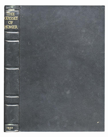 LAWRENCE (T.E.) The Odyssey of Homer, [translated by T.E. Lawrence], LIMITED TO 530 COPIES, PRESENTATION COPY FROM T.E. LAWRENCE TO HIS GODSON, STEWART LAWRENCE NEWCOMBE, Emery Walker, Wilfred Merton and Bruce Rogers, 1932